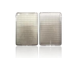 Apple Ipad Mini Crystal Rubbery Feel Silicone Skin Case Cover - Argyle Smoke
