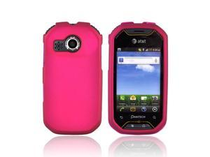 Pantech Crossover P8000 Rubberized Plastic Case - Rose Pink