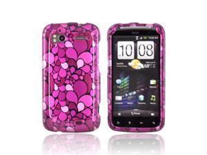 Pink Magenta Petals Hard Plastic Snap On Case Cover For HTC Sensation 4G