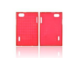 Argyle Red LG Optimus Vu VS950 Crystal Silicone Case