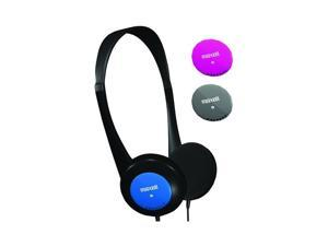 Oem Maxell Universal Kids Safe Headset W/ Changeable Colors,190338 - Pink/gray/blue (3.5mm)