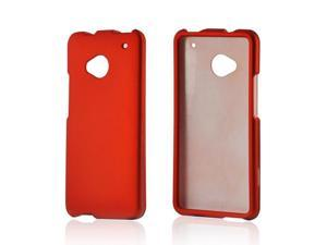 Orange Rubberized Hard Plastic Case Snap On Cover For HTC One