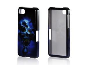 Blue Skull Hard Plastic Case Snap On Cover For Blackberry Z10