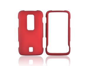 Huawei Ascend M860 Rubberized Plastic Case - Red