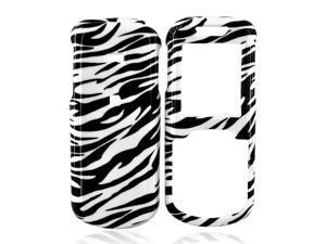 Samsung Stunt R100 Hard Plastic Case - White/black Zebra
