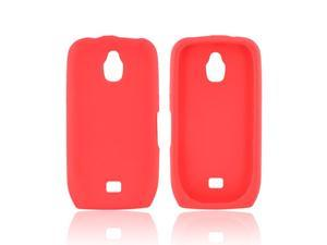 Red Rubber Feel Silicone Skin Case Cover For Samsung Exhibit T759 T759