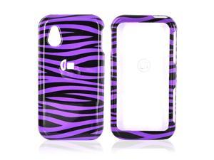 LG Arena Gt950 Hard Plastic Case - Black/purple Zebra