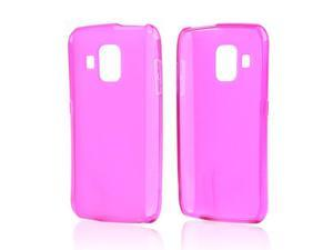 Hot Pink Crystal Rubbery Feel Silicone Skin Case Cover W/ Frosted Back For Pantech Perception