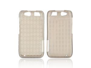 Motorola Atrix HD Crystal Rubbery Feel Silicone Skin Case Cover - Argyle Smoke