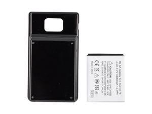 Black 3400 mAh Extended Long Life Battery w Door For AT&T Samsung Galaxy S2