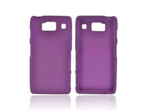 Motorola Droid RAZR HD Rubberized Hard Plastic Case Snap On Cover - Purple