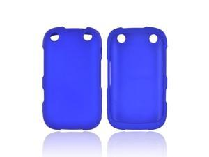 Blackberry Curve 9310/9320 Rubberized Hard Plastic Case Snap On Cover - Blue
