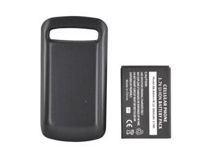 Black 2600 mAh Extended Long Life Battery w Door For Samsung Rookie R720