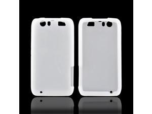 Motorola Atrix HD Rubbery Feel Silicone Skin Case Cover - Frost White
