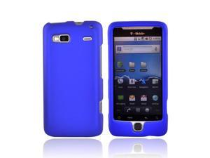Blue Rubberized Hard Plastic Snap On Case Cover For T Mobile G2