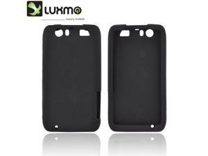 Motorola Atrix HD Rubbery Feel Silicone Skin Case Cover - Black
