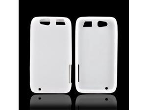 Motorola Atrix HD Rubbery Feel Silicone Skin Case Cover - White