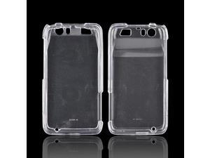 Motorola Atrix HD Plastic Snap On Cover - Transparent Clear