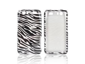 Motorola Atrix HD Plastic Snap On Snap On Cover - Silver/ Black Zebra