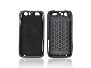 Motorola Atrix HD Crystal Rubbery Feel Silicone Skin Case Cover - Argyle Black