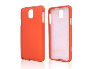 Samsung Galaxy Note 3 Orange Rubberized Hard Plastic Case Snap On Cover
