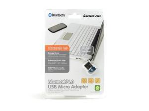 IOGEAR Blue/silver Bluetooth 4.0 USB Micro Adapter - Gbu521