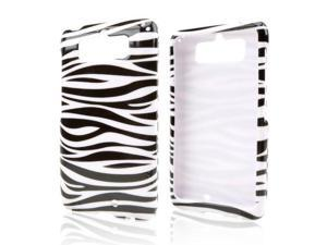 Slim & Protective Hard Case for Motorola Droid Mini - Black Zebra on White