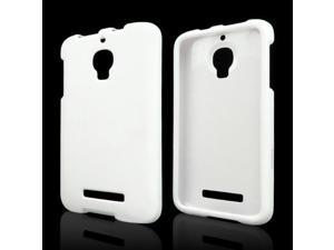 White Rubberized Hard Case for Alcatel One Touch Fierce