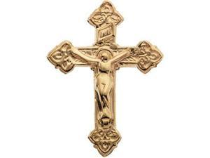 Crucifix Lapel Pin in 14k Yellow Gold
