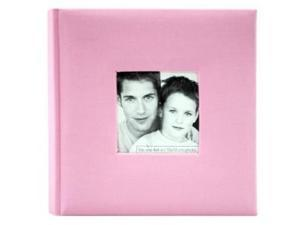 MCS Fashion Fabric 200 Pocket Album Pink
