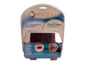 Rolodex 2-Port Power Outlet Hub