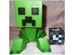 Licensed Collectible Minecraft CREEPER Vinyl Toy w/ Diamond Block