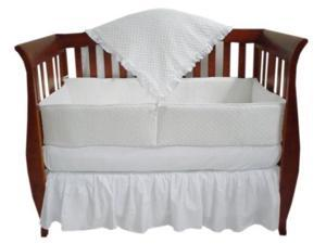 American Baby Company Heavenly Soft Minky Dot 4 Piece Crib Set - White