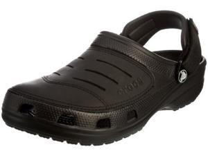 crocs Men's Yukon Clog,Black/Black,12 M Us