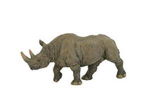 """Papo 50066 2-3/4"""" x 6-1/4"""" Black Rhinoceros Figure"""