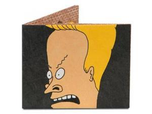 Dynomighty Men's Beavis and Butt-head Mighty Wallet, Black/Yellow/Beige, One Size
