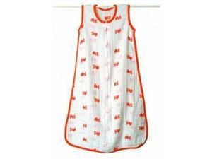 aden + anais Slumber Muslin Sleeping Bag Single Layer, Mod About Baby - Fish, Large