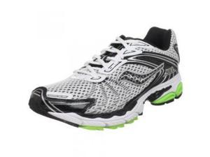 Saucony Men's ProGrid Ride 3 Running Shoe,White/Black/Slime Green,13 M US
