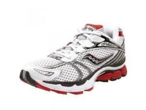 Saucony Men's Progrid Triumph 7 Running Shoe,White/Red,8 W
