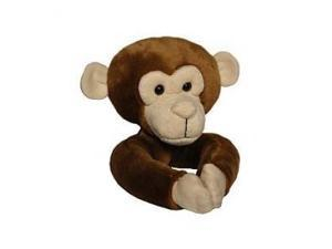 Curtain Critters Tieback Curtain Set of 2 - Plush Chocolate Brown Monkey