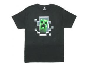 Creeper Inside - Minecraft T-shirt: Adult 2XL - Black