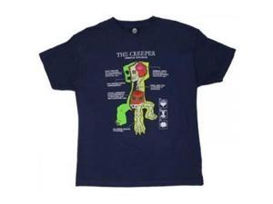 Creeper Anatomy - Minecraft Youth T-shirt (X-Small, 4/5)