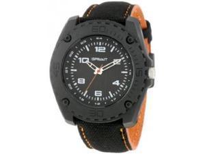 Sprout Men's ST3004BKBKOB Eco-Friendly Black Organic Cotton Strap Watch