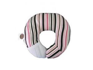 BabyMoon Pillow - For Flat Head Syndrome & Neck Support (Cocoa Stripe)