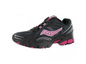 Saucony Women's Grid Excursion TR 5 Trail Running Shoe,Black/Grey/Pink,6.5 M US