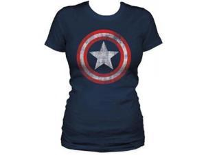 Juniors' Marvel Comics Captain America Shield T-shirt XL