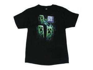 Three Creeper Moon - Minecraft Youth T-shirt (X-Small, 4/5)