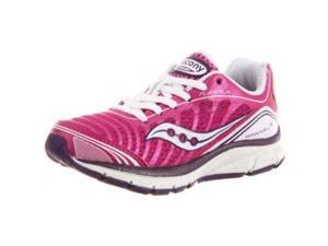 Saucony Kinvara 3 Running Shoe (Little Kid/Big Kid),Fuchsia/White/Purple,7 M US Big Kid