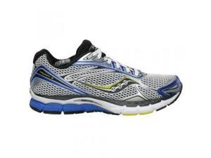 Saucony Men's Powergrid Triumph 9 Running Shoe,White/Royal/Yellow,8 M US