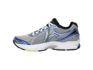 Saucony Men's Powergrid Triumph 9 Running Shoe,White/Royal/Yellow,9 M US